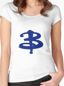 Buffy The Vampire Slayer 'B' v4.0 Women's Fitted Scoop T-Shirt