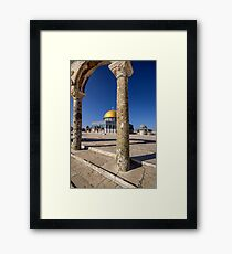Temple Mount Arches Framed Print