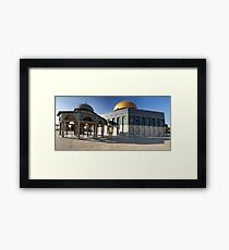 Temple Mount Stitch Framed Print
