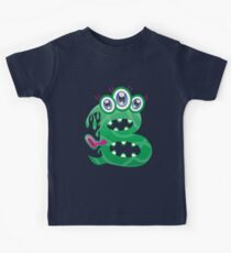 Cartoon monster letter B Kids Tee