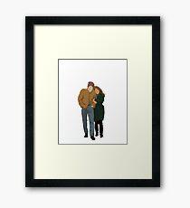 Minimalist Freewheelin' Bob Dylan Framed Print