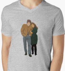Minimalist Freewheelin' Bob Dylan Men's V-Neck T-Shirt