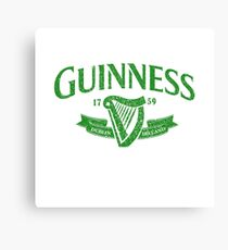 Guiness green Canvas Print