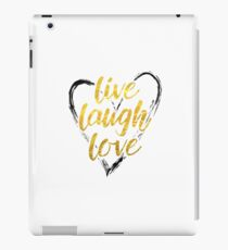 Hand lettered live laugh love heart iPad Case/Skin