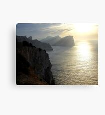 Cliffs in the sunset Canvas Print