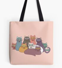 NINE CATS WITH NINE LIVES = ? Tote Bag