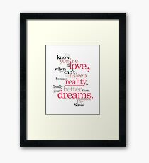 Dr. Seuss Love Quote Framed Print