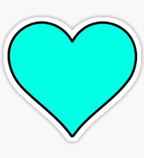 Teal Food Allergy Awareness Heart Sticker Sticker