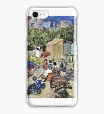 Maurice Brazil Prendergast  PAINTING OF A BEACH SCENE iPhone Case/Skin