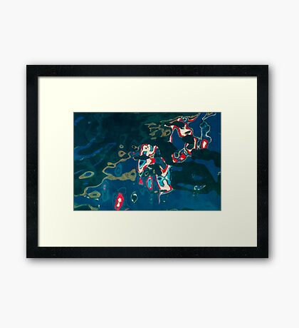 PR Flag Water Abstract Framed Print