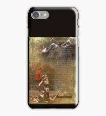 """The man in the arena"" Poster , words by Theodore Roosevelt iPhone Case/Skin"