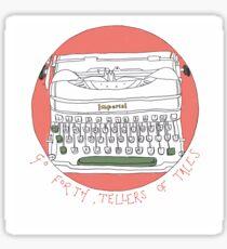 Tale telling typewriter  Sticker