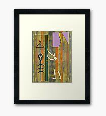 SKELETON IN THE CLOSET Framed Print