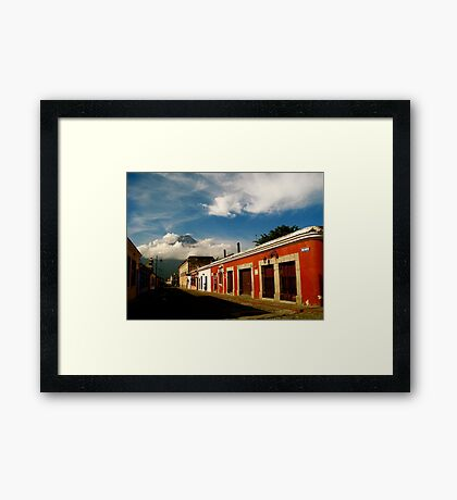 Agua Looking over Antigua II Framed Print