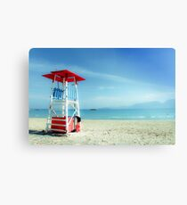 The lifeguard tower in a lonely beach Canvas Print