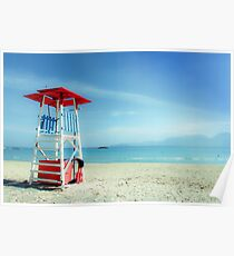 The lifeguard tower in a lonely beach Poster