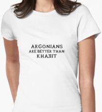 Argonians are better than Khajiit Womens Fitted T-Shirt