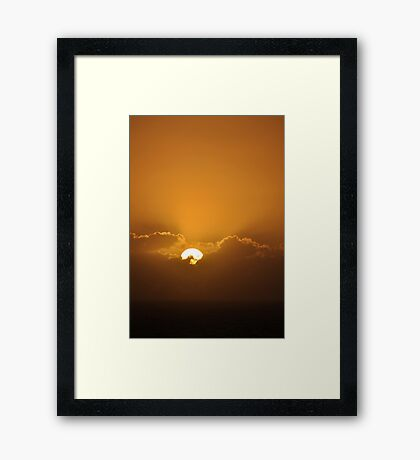 At the End of the Day...in Uruguay Framed Print