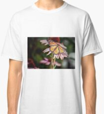 Monarch Butterfly on Purple Coneflower Classic T-Shirt