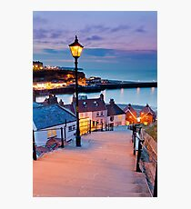 Whitby's 199 steps Photographic Print
