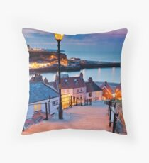 Whitby's 199 steps Throw Pillow