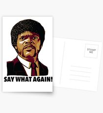 Pulp Fiction Say What Again Postcards