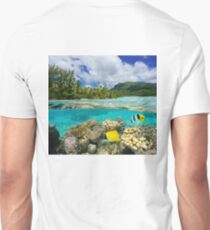 Above and below surface lagoon French Polynesia T-Shirt