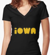 Iowa Bubbler Women's Fitted V-Neck T-Shirt