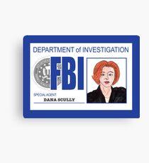 Agent Dana Scully Canvas Print
