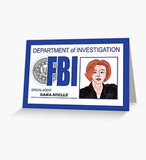 Agent Dana Scully Greeting Card