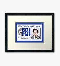 Agent Fox Mulder Framed Print