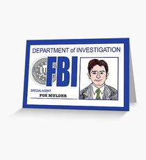 Agent Fox Mulder Greeting Card