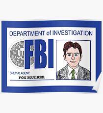 Agent Fox Mulder Poster