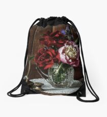 On the dresser  Drawstring Bag