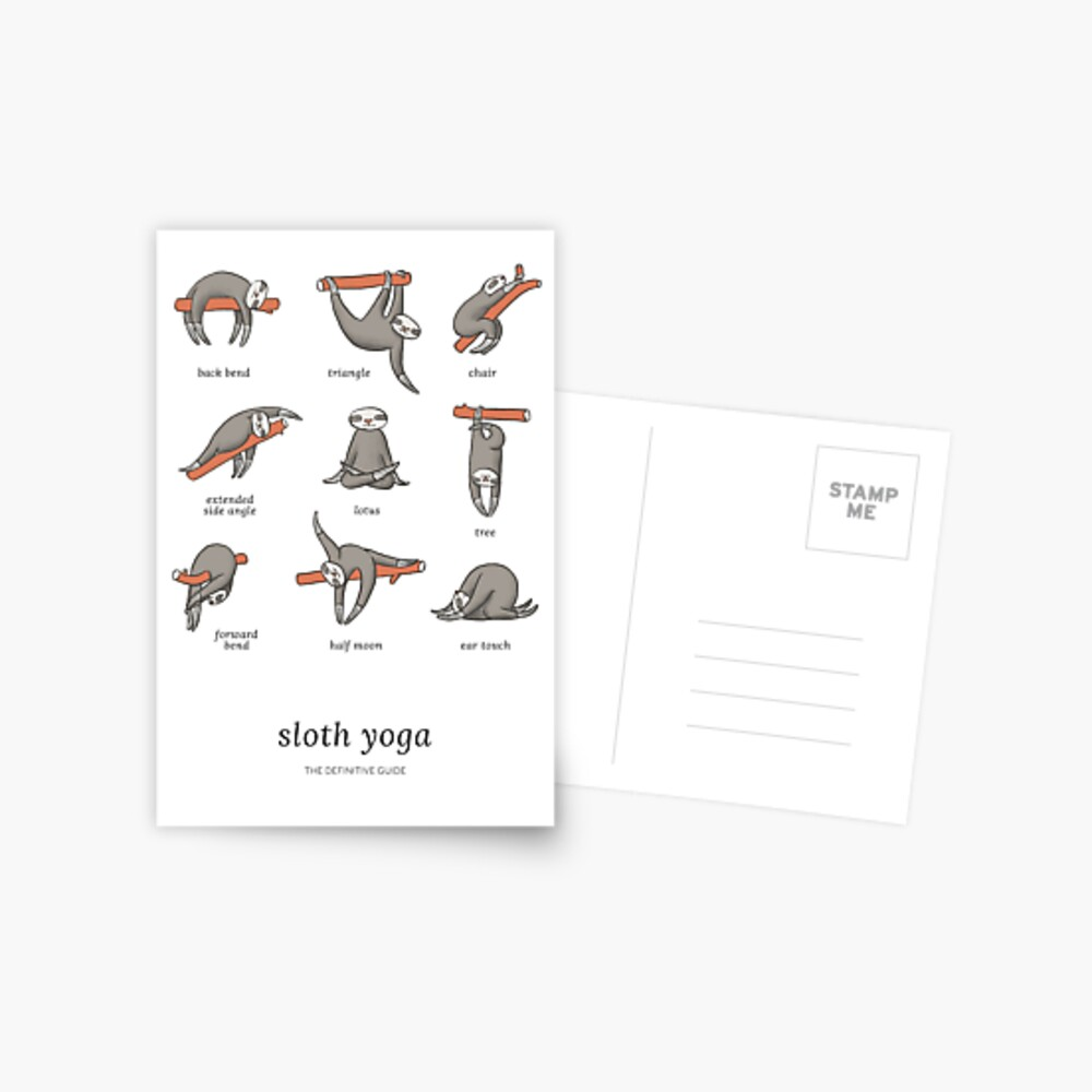 Sloth Yoga - The Definitive Guide Postcard