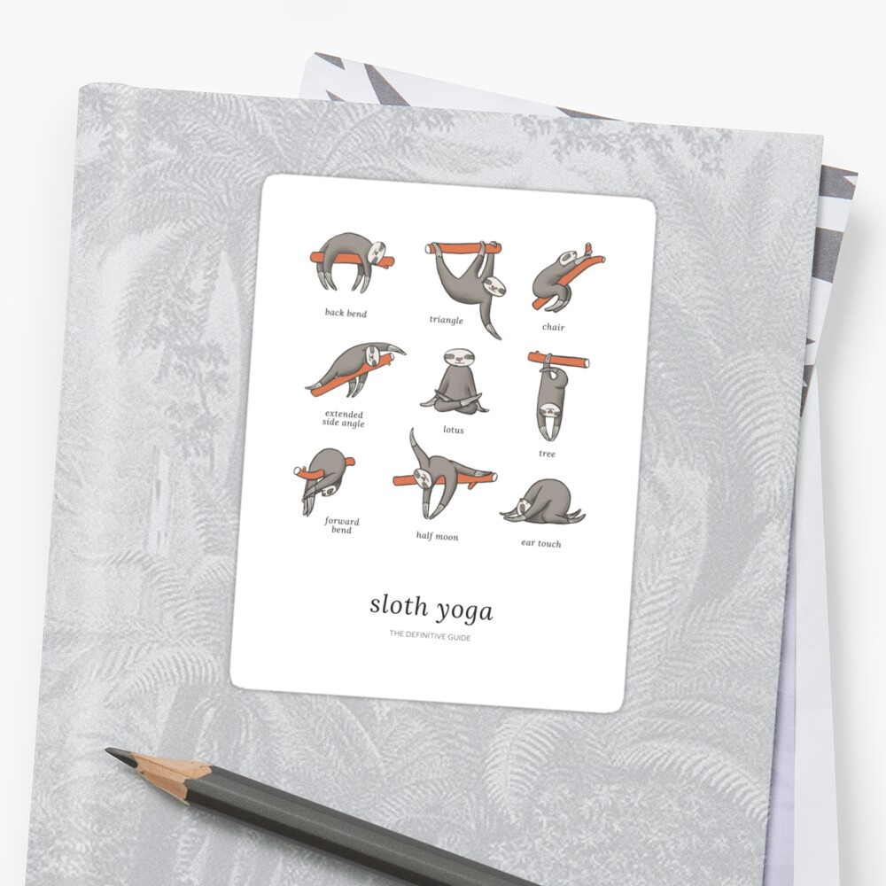 Sloth Yoga - The Definitive Guide Sticker