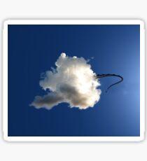 Dragon Hiding in a Cloud Sticker