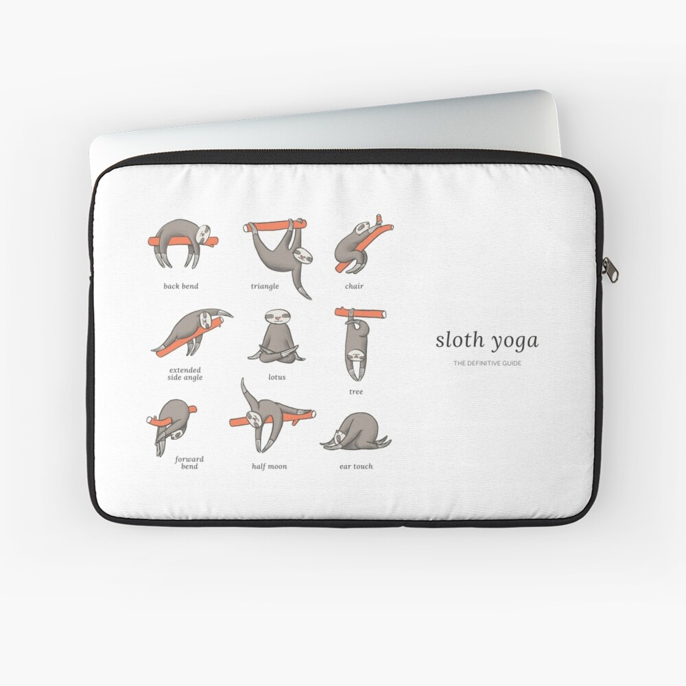 Sloth Yoga - The Definitive Guide Laptop Sleeve