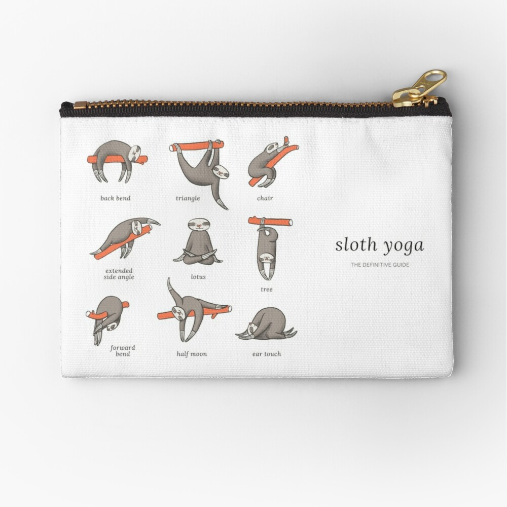 Sloth Yoga - The Definitive Guide Zipper Pouch