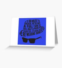 106 Miles to Chicago  The Blues Brothers Greeting Card