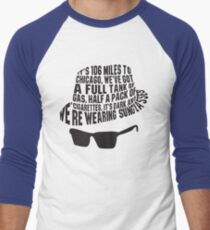 106 Miles to Chicago  The Blues Brothers Men's Baseball ¾ T-Shirt