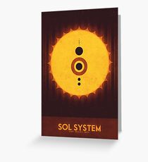 Sol System Greeting Card