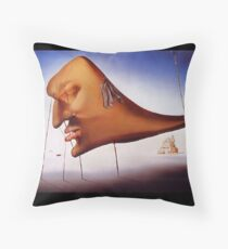 Sleep by Salvador Dali - Pillow and Phone Cases Throw Pillow