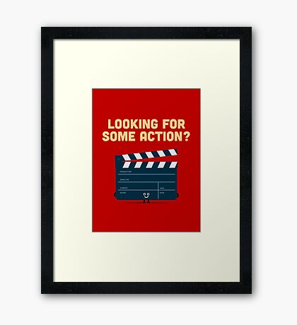 Character Building - Clapperboard Framed Print