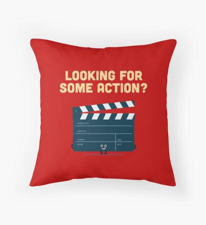 Character Building - Clapperboard Throw Pillow