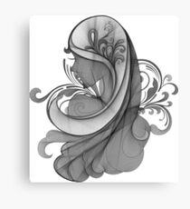 Glamour Girl pencil drawing Canvas Print