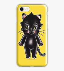 Black Cat Kewpie iPhone Case/Skin