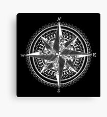 White Compass Canvas Print
