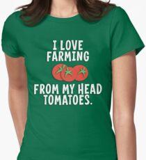 I Love Farming From My Head Tomatoes T Shirt T-Shirt