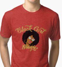 Schwarze Mädchen magische Grafik Vintage T-Shirt